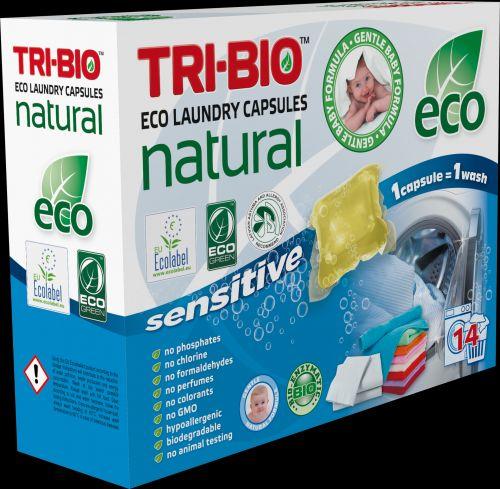 Tri-bio Натуральные эко капсулы для стирки белья 14 капсул