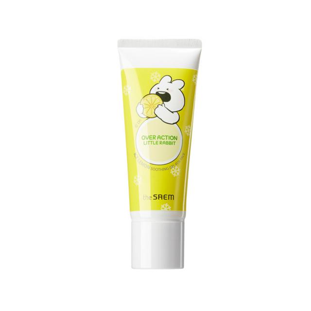 Гель для лица успокаивающий The Saem (Over Action Rabbit) Ice Lemon Soothing Gel For Face 100мл
