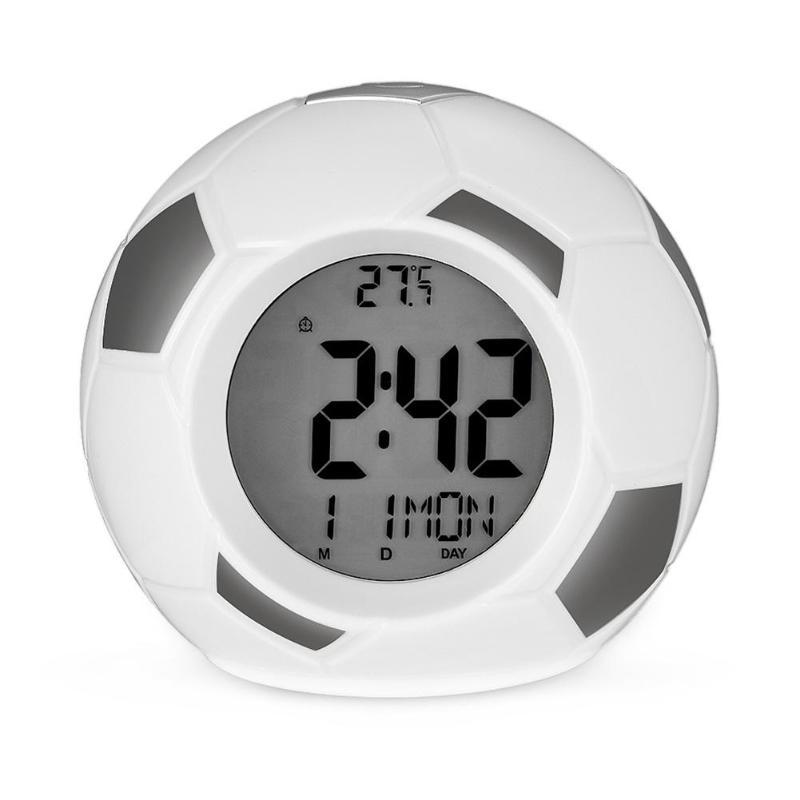 Настольные Говорящие Часы Футбольный Мяч Atima AT-609TR, Цвет Серый