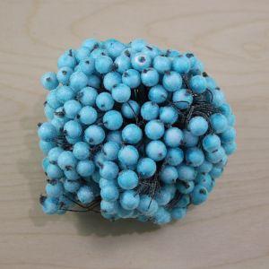 Ягоды в сахарной обсыпке 12 мм (длина 16см), цвет бирюзовый, 1 уп = 400 ягодок, ЯГ0032-1