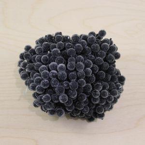 Ягоды в сахарной обсыпке 12 мм (длина 16см), цвет черный, 1 уп = 400 ягодок