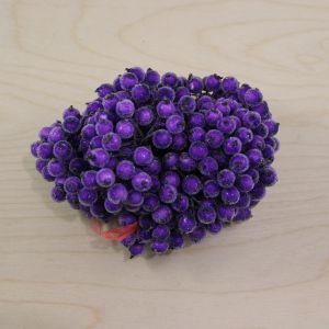 Ягоды в сахарной обсыпке 12 мм (длина 16см), цвет фиолетовый, 1 уп = 400 ягодок, ЯГ0047-1