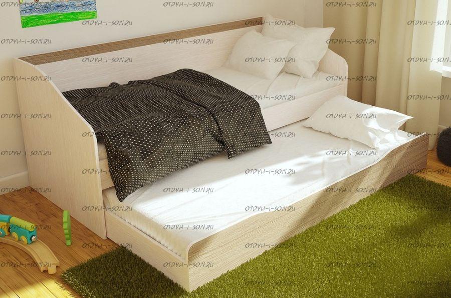 Кровать Паскаль выдвижная BTS (80х190 + 80х186)