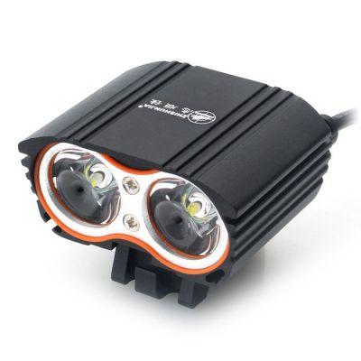 Велофара 2*CREE XM-L, питание от USB (2 светодиода)
