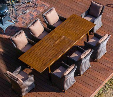 Обеденный стол ТОСКАНА алюминиевый коричневый