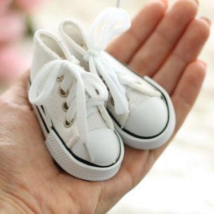 Обувь для кукол Тильда -7.5 см белые кеды
