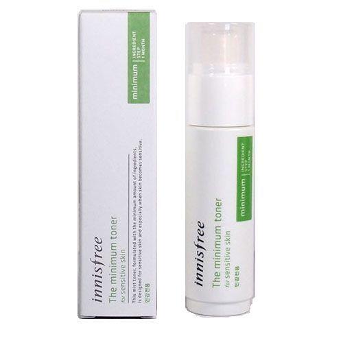 Гипоаллергенный увлажняющий тонер для чувствительной кожи Innisfree The Minimum Toner