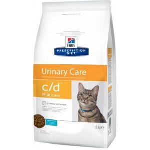 Корм сухой Hill's Diet C/D диета для кошек при мочекаменной болезни с океанической рыбой, 1,5кг