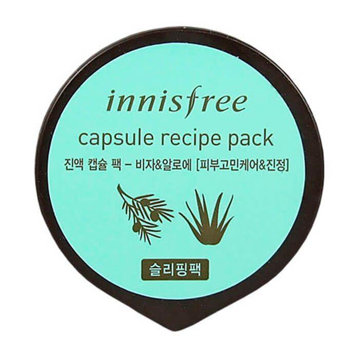 Капсульная ночная маска с экстрактом Торреи и Алоэ Innisfree Capsule Recipe Pack Bija & Aloe