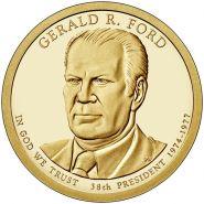 38-й президент США - Джеральд Форд. 1 доллар США 2016 года