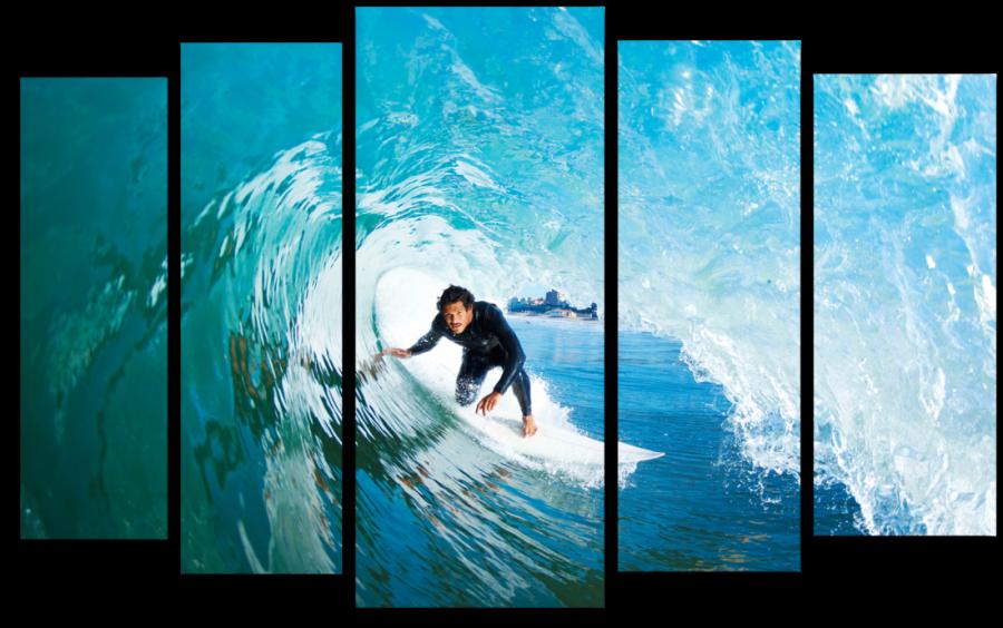Модульная картина Серфинг