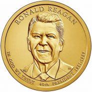 40-й президент США - Рональд Рейган. США 1 доллар США 2016 года