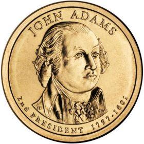 2-й президент США. Джон Адамс 1 доллар США