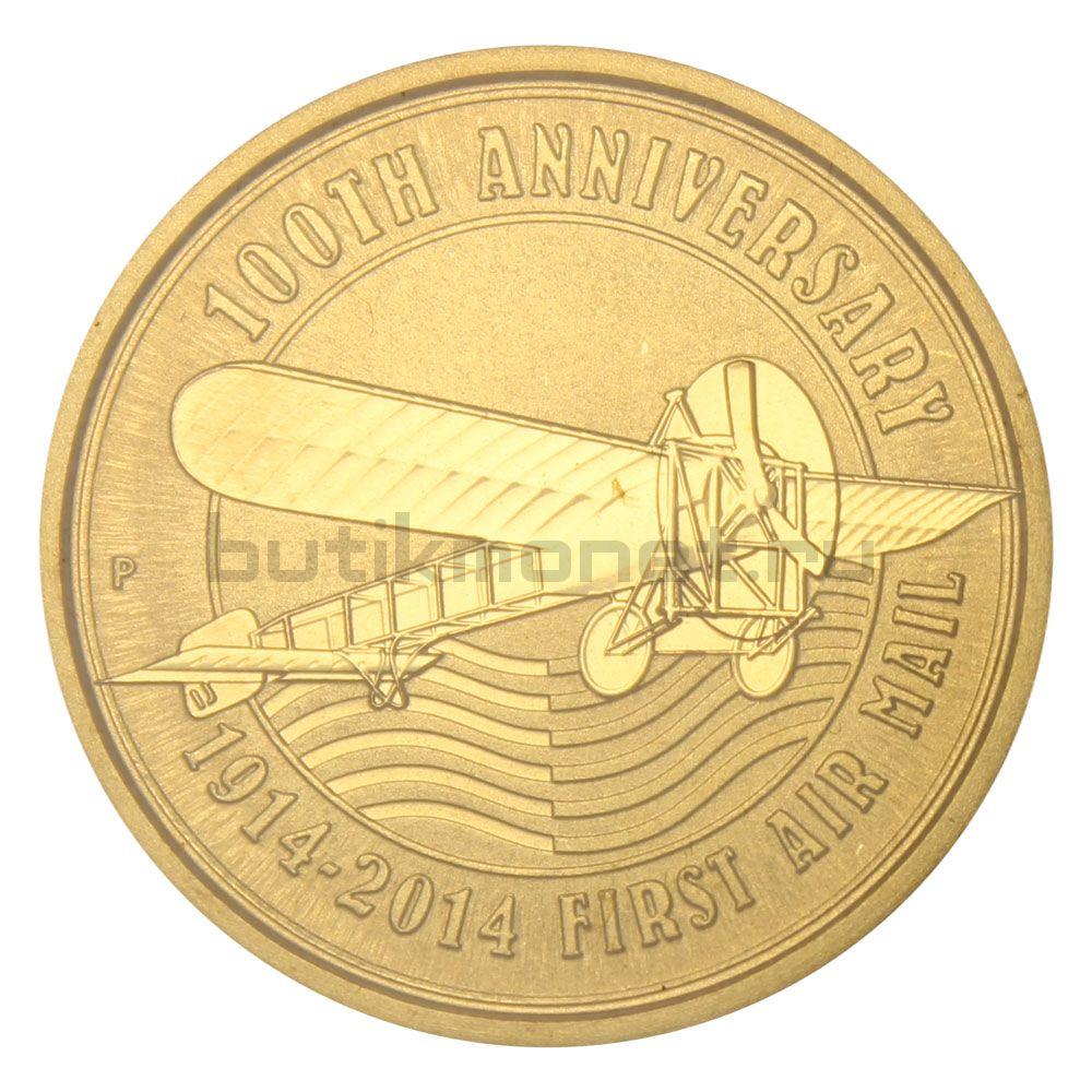 1 доллар 2014 Тувалу 100-летие Авиапочты