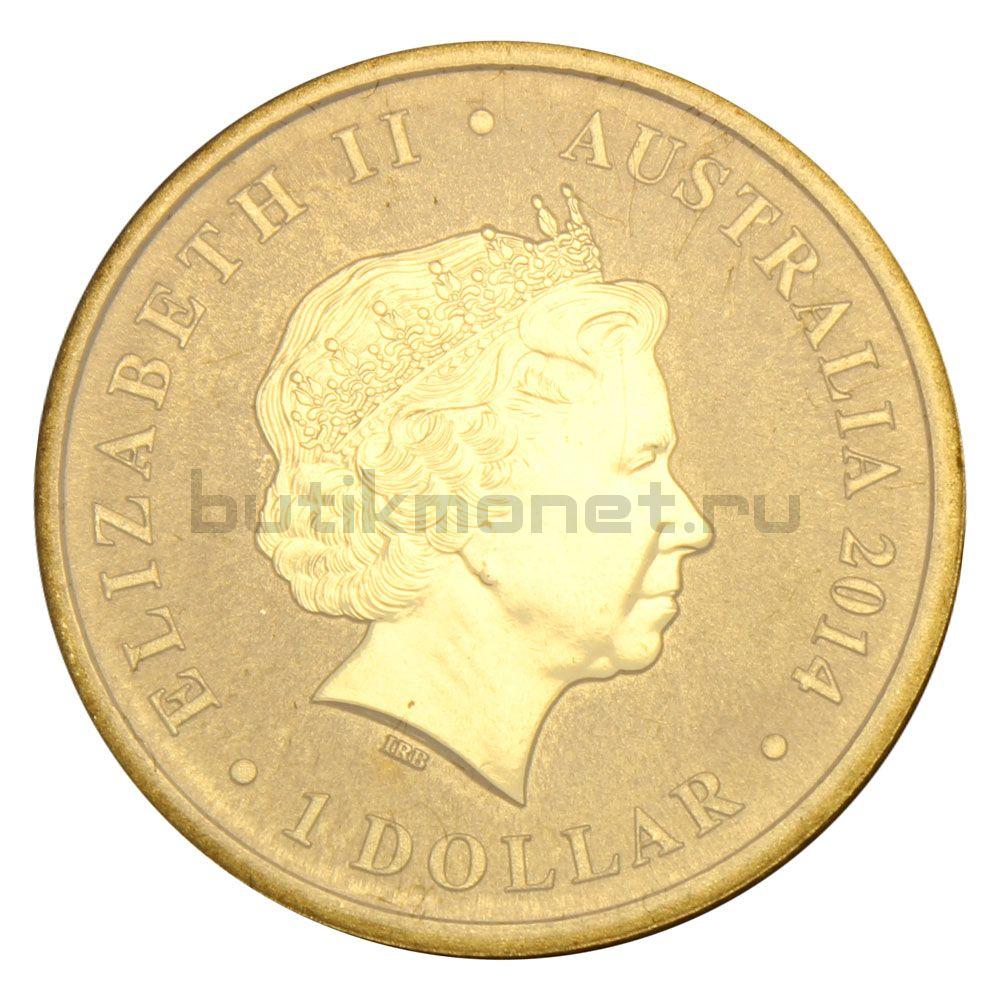 1 доллар 2014 Австралия 150 лет со дня рождения Эндрю Бартона Патерсона