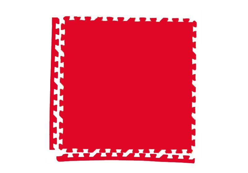 Мягкий пол универсальный 60*60 (см) красный с кромками