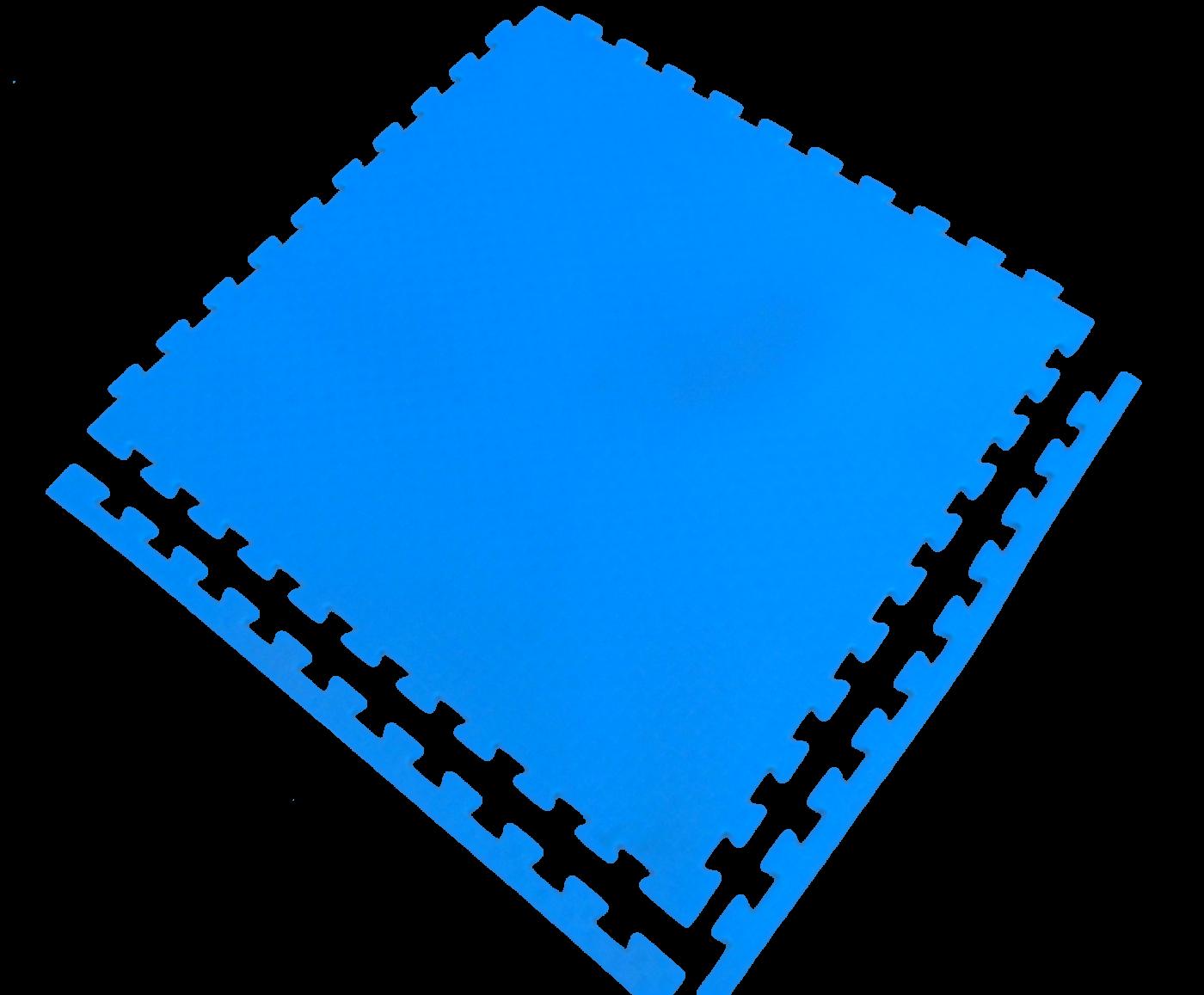 Мягкий пол универсальный 60*60 (см) синий с кромками