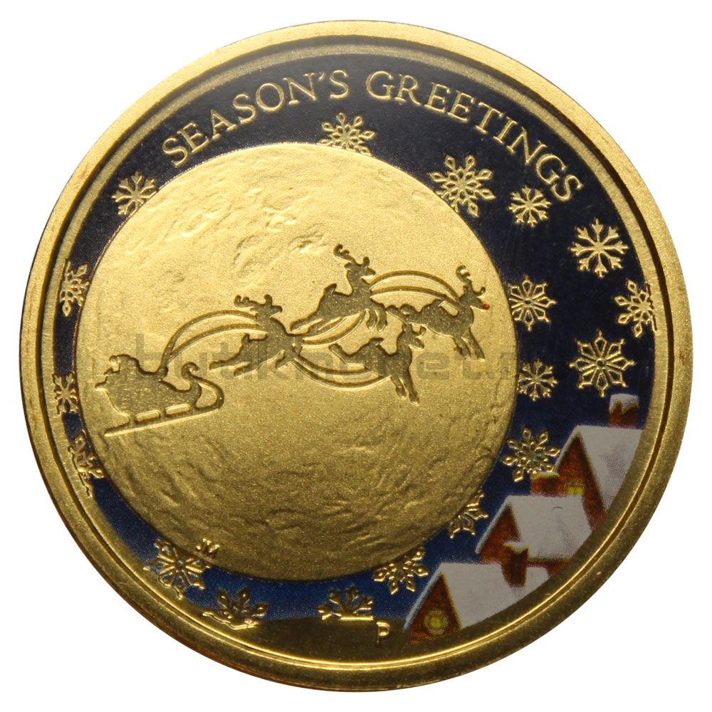 1 доллар 2014 Австралия Рождество