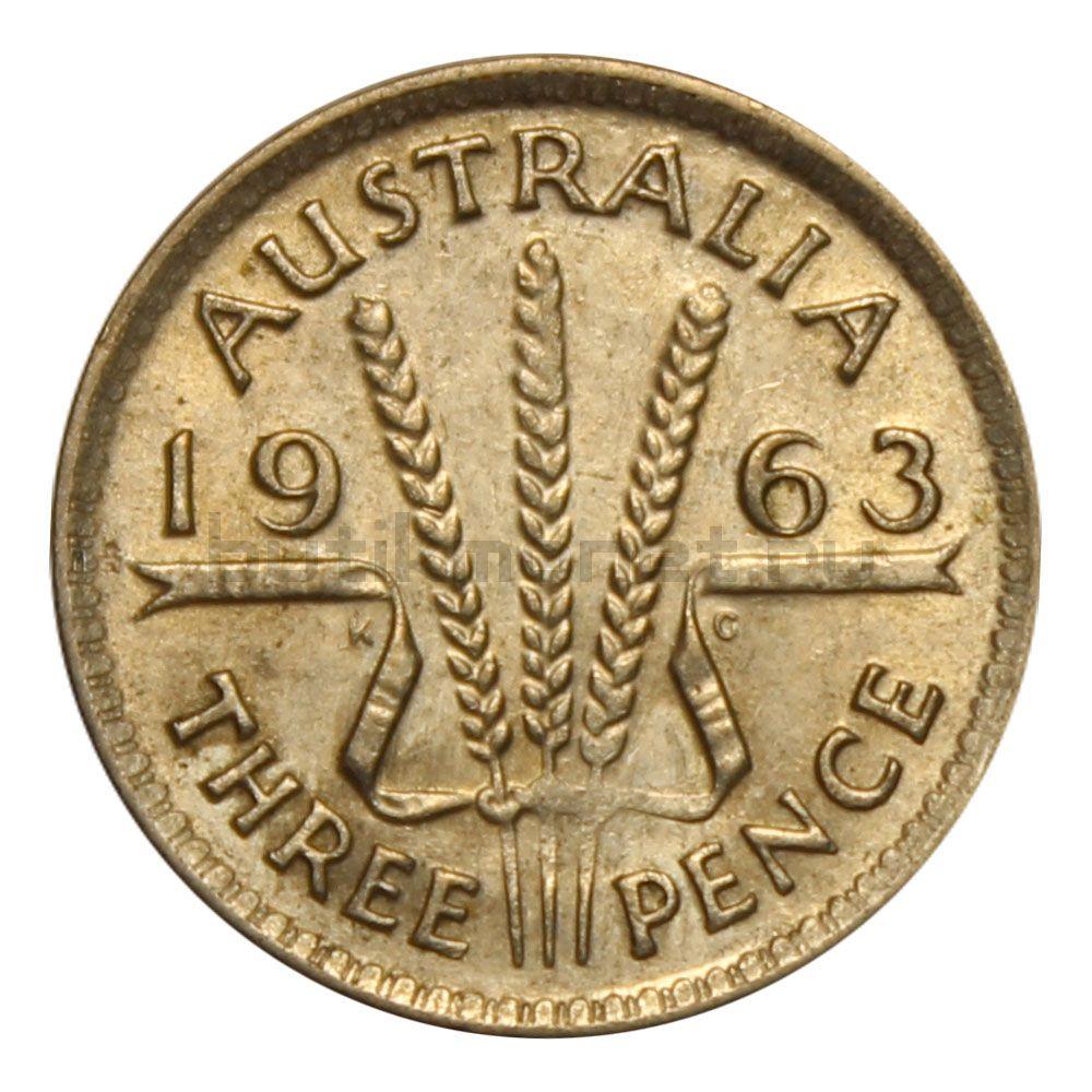 3 пенса 1963 Австралия