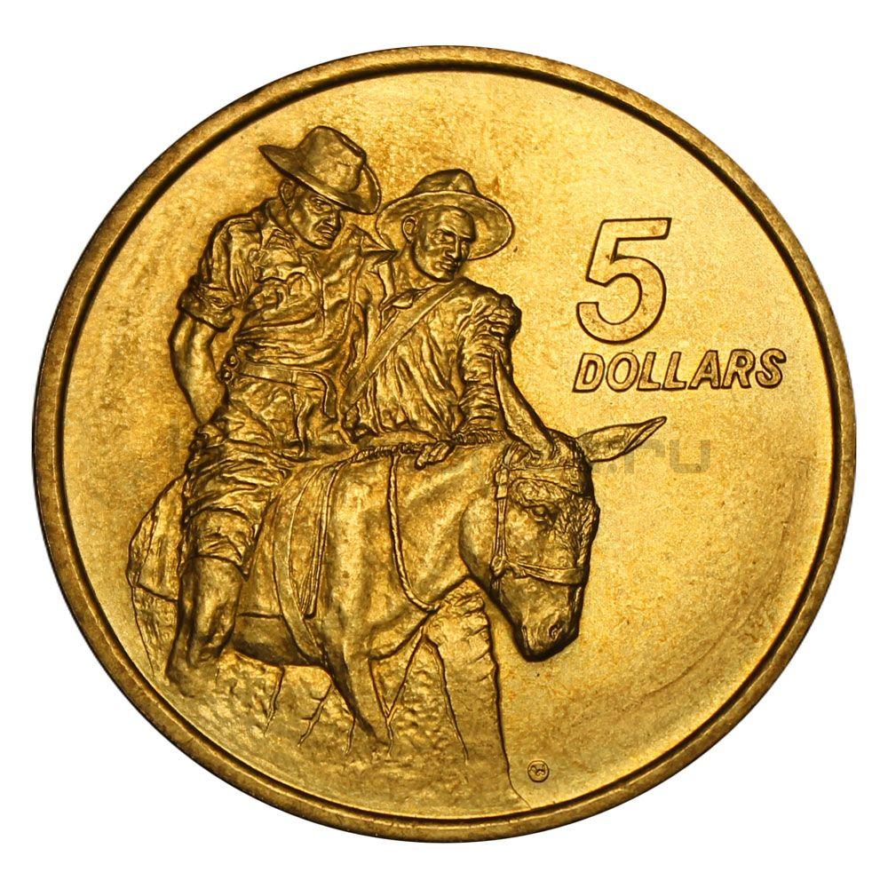 5 долларов 1990 Австралия Мемориал АНЗАК