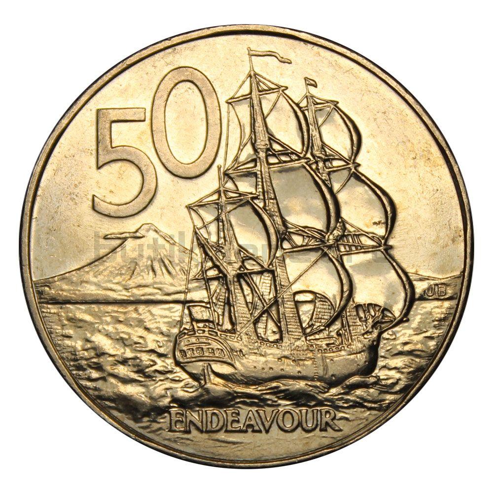 50 центов 1987 Новая Зеландия