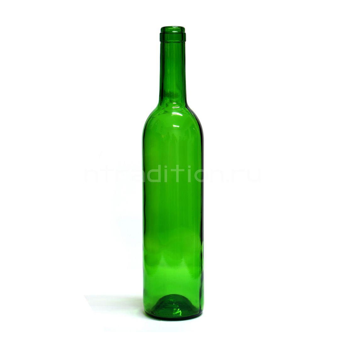 Винная бутылка Бордо (цвет зеленый) 0,7 л. / 16 шт.