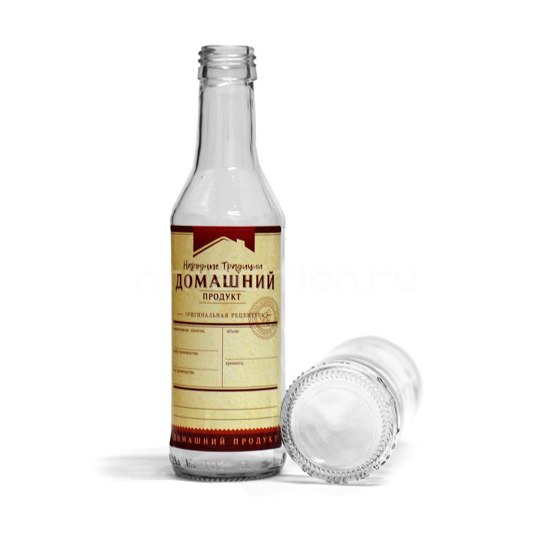 Бутылка водочная, под винт 28*18 0,25 л / 25 шт.