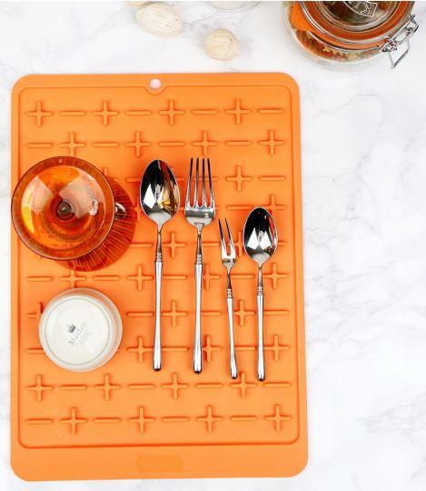 Силиконовый коврик для сушки посуды Sallema апельсин