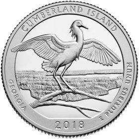 Национальный парк Остров Камберленд(Джорджия) 25 центов США 2018 Монетный Двор на выбор
