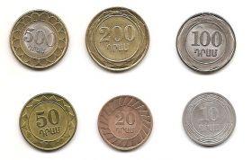 Набор монет (Регулярный выпуск) Армения (2003-2004)  6 монет