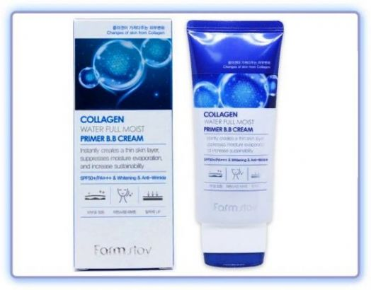 ВВ-крем с коллагеном увлажняющий FarmStay Collagen water full moist premium BB cream SPF50+/PA+++