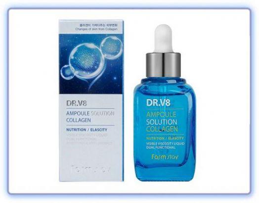 Ампульная сыворотка с коллагеном FarmStay DR-V8 Ampoule SoluTion Collagen