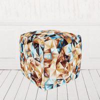 Пуфик кубик велюр Глесс01