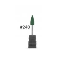 """Силиконовая насадка """"Конус"""" для аппаратного маникюра, 06х16, зелёная"""