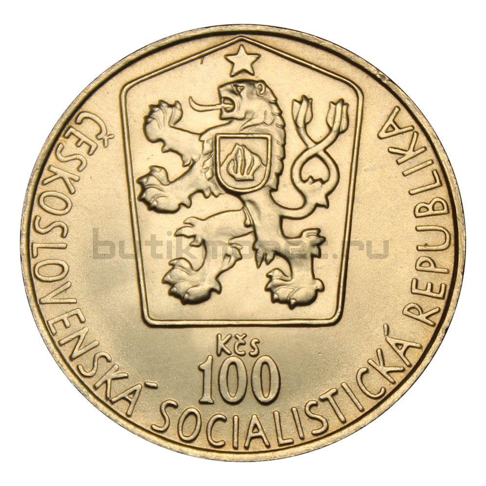 100 крон 1985 Чехословакия Чемпионат Мира и Европы по хоккею