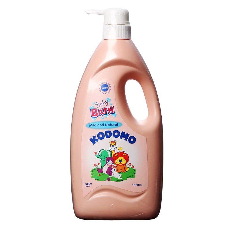 """LION """"Кодомо"""" Пена для ванн детская 1000мл """"Природная мягкость"""" (2 в 1) с дозатором"""