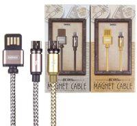 Кабель USB Remax RC-095m micro USB магнитный (1 метр) (gold)
