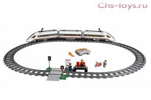 Конструктор радиоуправляемый PRCK Город Скоростной пассажирский поезд 28031 (60051) 628 дет