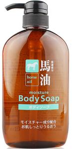 Kumano Cosmetics Horse Oil Жидкое мыло для тела увлажняющее с лошадиным маслом