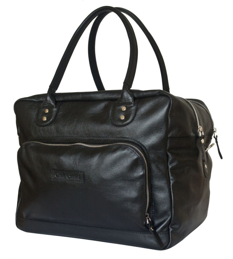Кожаная дорожная сумка Carlo Gattini - Oris black