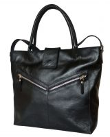 Кожаная женская сумка Carlo Gattini - Vallena black