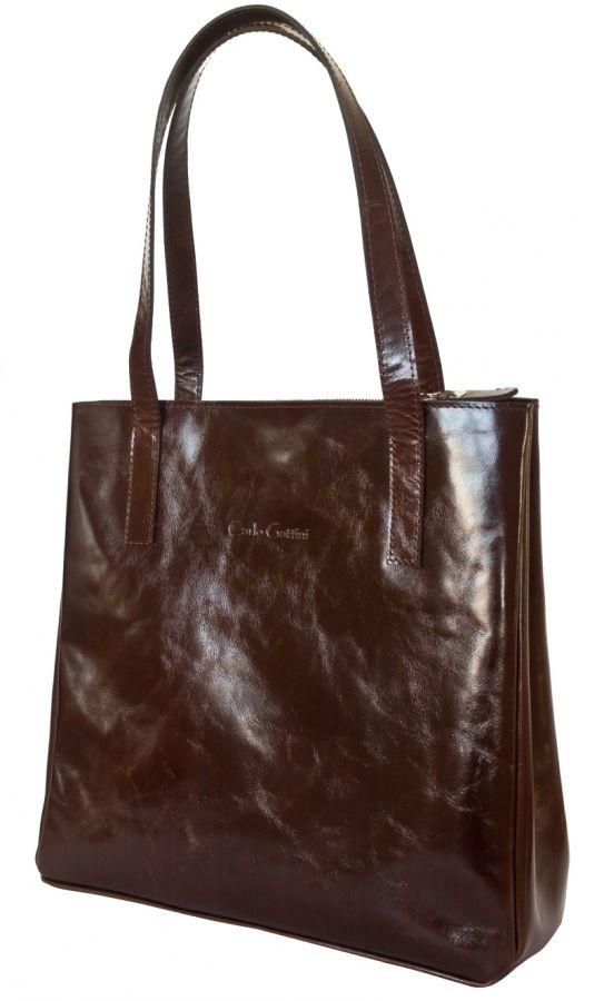 Кожаная женская сумка Carlo Gattini - Vietto brown