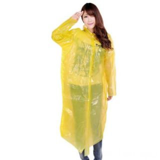 Виниловый плащ-дождевик для взрослых, Желтый