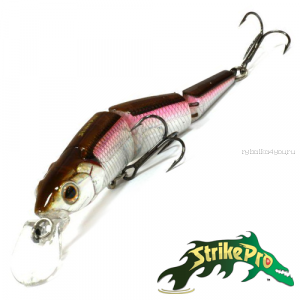 Воблер Strike Pro Flying Fish Joint EG-079J 110 мм / 21 гр / Заглубление: 1,2 - 2 м / цвет: A53