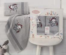Комплект махровых полотенец для детей BAMBINO-SAMALOT 50*70+70*120 Арт.3094-3