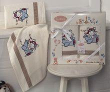 Комплект махровых полотенец для детей BAMBINO-SAMALOT 50*70+70*120 Арт.3094-5