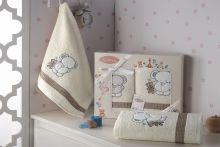 Комплект махровых полотенец для детей BAMBINO-SLON 50*70+70*120 Арт.3095-4