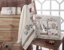 Комплект махровых полотенец для детей BAMBINO-TRAIN 50*70 + 70*120 Арт.2134-2