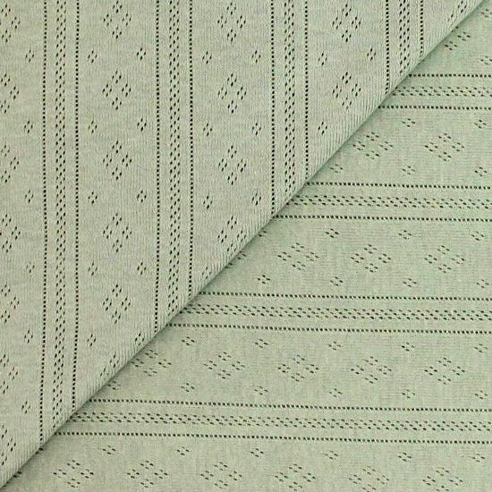 Лоскут трикотажной ткани Ажурный Хаки 50*30