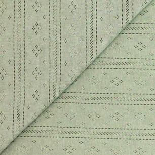 Лоскут трикотажной ткани Ажурный Серый 50*30